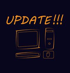 inscription update vector image