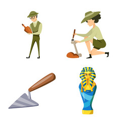 Isolated object archaeology and historical logo vector