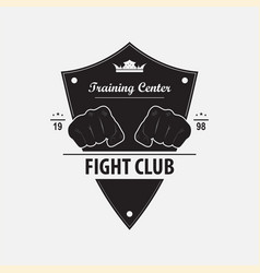 Logo fight club vector