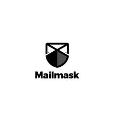 mail mask logo design concept vector image