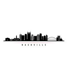 Nashville skyline horizontal banner vector