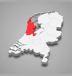 North holland province location within vector