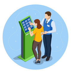 Online payment systems and self-service payments vector