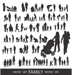 People Silhouettes isolated on white vector image