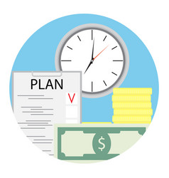 plan finance for business vector image