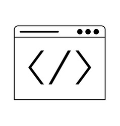 Programming code windows symbol technology in vector