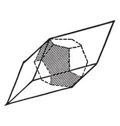Pyrite vintage vector