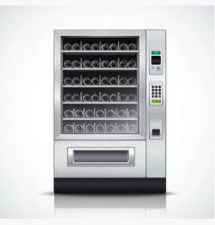 Realistic Modern Vending Machine vector image