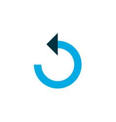 reload icon colored symbol premium quality vector image