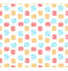 retro seamless pattern with multi color circles vector image
