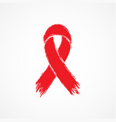 ribbon aids symbol vector image