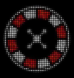 Roulette halftone icon vector