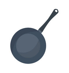 Saucepan cooking icon on white background vector