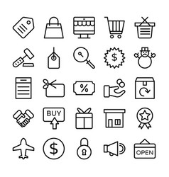 shopping and e commerce icons 3 vector image