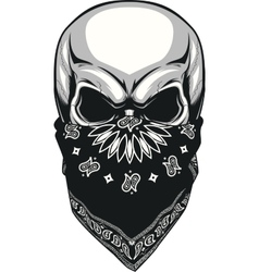 Skull bandana vector image