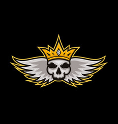 skull king sports logo skull king mascot logo for vector image