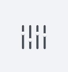 Slider bar interface element vector
