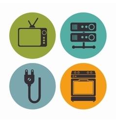 Smart house settings menu vector