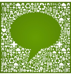 Social media bubble eco icons vector
