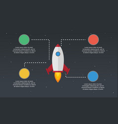 Start up element concept business infographic vector
