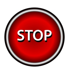 Stop icon Internet button on white background vector