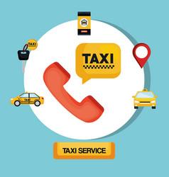 taxi service transport public app vector image