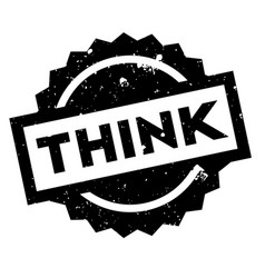think rubber stamp vector image