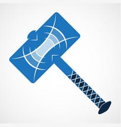Thor hammer icon vector