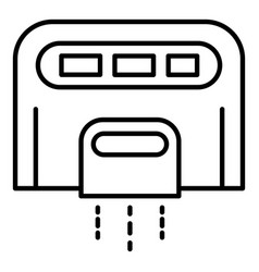 Toilet hand dryer icon outline style vector