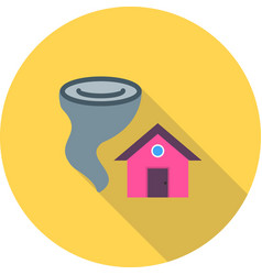 tornado hitting house vector image