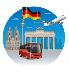 travel in germany vector image vector image