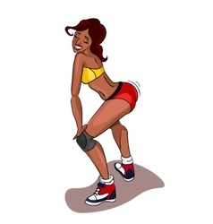 Twerk dance Black woman vector
