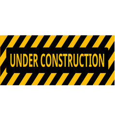 under construction backgrouind vector image