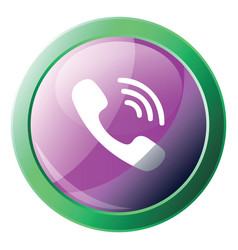viber logo design inside a green circle icon on a vector image
