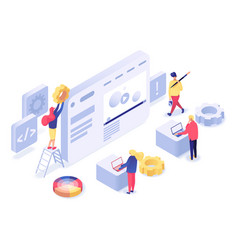 web design and development isometric vector image