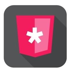 web development shield sign html5 vector image
