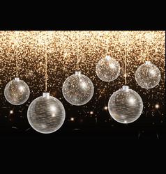 With christmas balls vector