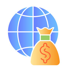 World budget flat icon global payment color icons vector