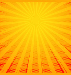 yellow pop art comic book style background vector image