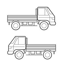 car black lines vector image vector image