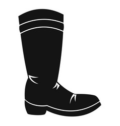cowboy boot icon simple style vector image vector image