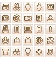 Retro Colored Icon vector image vector image