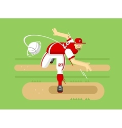 Baseball player cartoon character vector image