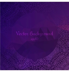 Lace ornament circle design on diamond background vector image vector image