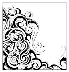 Liquid ornament with copy space area vector image vector image