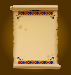 old parchment with gothic ornament vector image vector image