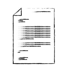sheet document in black blurred contour vector image vector image