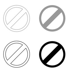 sign entry prohibited the black and grey color vector image