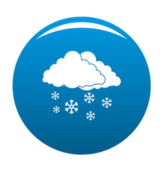 snow cloud holiday icon blue vector image vector image