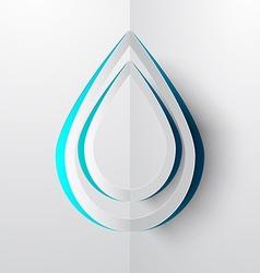 Water Drop Paper Cut vector image